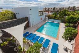 Бассейн. Испания, Лансароте : Современная вилла с 4 спальнями, 4 ванными комнатами, а также собственным бассейном с подогревом