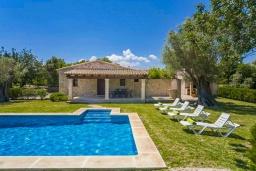 Бассейн. Испания, Польенса : Традиционная испанская вилла окружённая зеленой растительностью, с 3 спальнями, 2 ванными комнатами и собственным бассейном