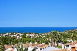 Вид на море. Испания, Аликанте : Уютная вилла бассейном, садом и шикарным видом на море и горы! Гостиная с кондиционером, спальня, ванная комната, парковка, wi-fi.