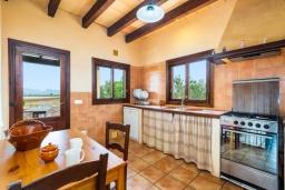 Кухня. Испания, Алькудия : Уединенная вилла с красивым садом, частным бассейном, 2 спальнями, 1 ванной комнатой, бесплатный, Wi-Fi