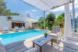 Зона отдыха у бассейна. Испания, Алькудия : Очаровательный домик для отдыха 4-х человек