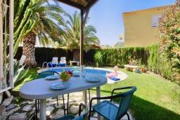 Терраса. Испания, Олива : Частная вилла в окружении пышной средиземноморской растительности, гостиная, 2 спальни, 2 ванных комнаты, бассейн, Wi-Fi, парковка