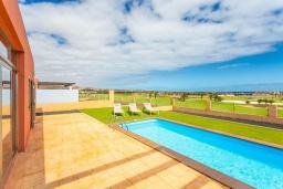 Бассейн. Испания, Фуэртевентура : Яркая красивая вилла может вместить до 6 человек с 3 спальнями, 3 ванными комнатами, а также отдельным бассейном с подогревом