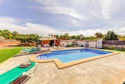 Бассейн. Испания, Кан-Пикафорт : Яркая уютная вилла с 2 спальнями, 2 ванными комнатами и собственным бассейном, кондиционерами, Wi-Fi