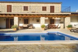 Бассейн. Испания, Алькудия : Солнечная вилла с красивым видом, с 3 спальнями, 2 ванными комнатами, частным бассейном, кондиционерами и Wi-Fi