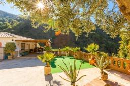Патио. Испания, Нерха : Вилла с потрясающим видом с террасы на горы и пышные долины, с 3 спальнями, 2 ванными комнатами и собственным бассейном.