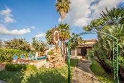 Вход. Испания, Алькудия : Великолепная вилла в традиционном испанском стиле, с 3 спальнями, 2 ванными комнатами и собственным бассейном.