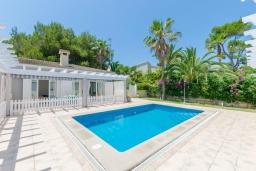 Бассейн. Испания, Муро : Дом с террасрй и общим бассейном для 6 человек