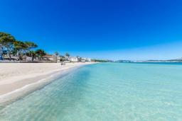 Пляж. Испания, Муро : Дом с террасрй и общим бассейном для 6 человек