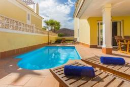 Бассейн. Испания, Фуэртевентура : Яркая солнечная вилла с красивым интерьером, 3 спальнями, 2,5 ванными комнатами и собственным бассейном с подогревом.