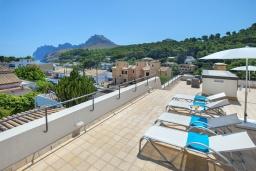Терраса. Испания, Кала-де-Сант-Висент : Современная вилла в пяти минутах ходьбы от пляжа с бассейном и панорамным видом, террасой и барбекю, 4 спальни, 3 ванные комнаты, Wi-Fi.