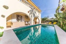 Бассейн. Испания, Алькудия : Вилла с собственным бассейном, 4 спальнями, 3 ванными комнатами и бесплатным Wi-Fi расположена в Алькудии.