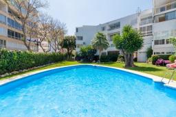 Бассейн. Испания, Марбелья : Уютная двухкомнатная квартира с бассейном и парковкой в центре Марбельи, открытая парковка, 1 спальня, 1 ванная комната, мини-кухня.