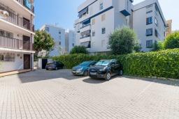 Парковка. Испания, Марбелья : Уютная двухкомнатная квартира с бассейном и парковкой в центре Марбельи, открытая парковка, 1 спальня, 1 ванная комната, мини-кухня.