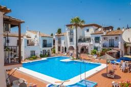 Бассейн. Испания, Нерха : Уютный дом для отдыха в городе Нерха, в 500 м от пляжа Бурриана и в 800 м от пляжа Калаонда, 2 спальни, 2 ванные комнаты, общий и детский бассейны, Wi-Fi.
