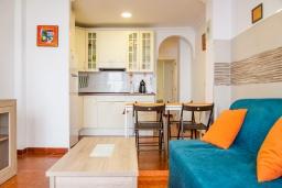 Гостиная / Столовая. Испания, Нерха : Яркие апартаменты с бесплатным Wi-Fi, террасой и сезонным открытым бассейном в Нерхе, в нескольких шагах от пляжей Эль-Плайазо и Торресилья, 1 спальня, 1 ванная комната, гостиная, парковка.