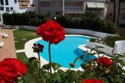 Бассейн. Испания, Нерха : Просторные апартаменты с кондиционером, ухоженным садом и открытым бассейном в городе Нерха, в 200 м от пляжа Бурриана и в 400 м от пляжа Калаонда, 3 спальни, 2 ванные комнаты, бесплатный Wi-Fi.