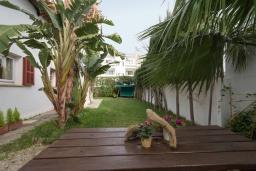Территория. Испания, Порт-де-Польенса : Уютная вилла в шаговой доступности от песчаного пляжа, бассейн, гостиная, 4 спальни, 2 ванных комнаты, Wi-Fi, кондиционер