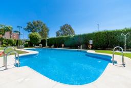 Бассейн. Испания, Фуэнхирола : Сказочные апартаменты с бассейном, зеленым садом, теннисным кортом и парковкой в районе Мирамар Фуэнхирола, в нескольких минутах от пляжа Сохаил Фуэнхирола, 1 спальня, 1 ванная комната, Wi-Fi.
