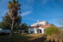 Вид на виллу/дом снаружи. Испания, Калелья : Традиционный испанский дом,  расположенный в тихом жилом районе, подходит для большой семьи или группы друзей семьями, 7 спален, 3 ванные комнаты, частный бассейн и большой красивый сад.