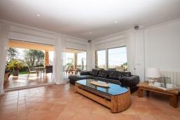 Гостиная / Столовая. Испания, Ллорет-де-Мар : Очаровательная вилла расположенная в 4 км от центра Льорет де Мар, имеет 4 спальни, 2 ванные комнаты, частный бассейн и парковку.