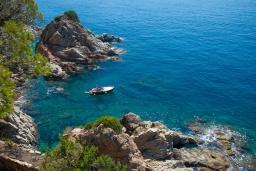 Ближайший пляж. Испания, Ллорет-де-Мар : Красивая вилла с ошеломительными видами на Средиземноморское море, с 5 спальнями, 4 ванными комнатами и частным бассейном