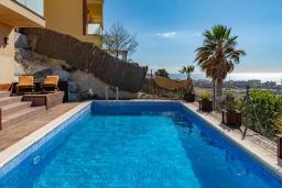 Бассейн. Испания, Санта Сусана : Современная комфортабельная вилла с частным бассейном, 4 спальнями и 3 ванными комнатами, оборудована кондиционерами и WIFI