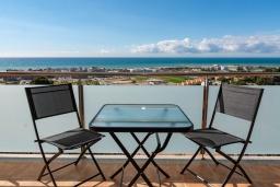 Балкон. Испания, Санта Сусана : Современная комфортабельная вилла с частным бассейном, 4 спальнями и 3 ванными комнатами, оборудована кондиционерами и WIFI