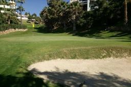 Территория. Испания, Фуэнхирола : Просторный дом для отдыха с бассейном, террасами и балконом на курорте Михас-Коста, в 1,1 км от пляжа Плайя-де-Калахонда и в 1,5 км от пляжа Плайя-де-Калаонда, 3 спальни, 2 ванные комнаты, зеленый сад, Wi-Fi.