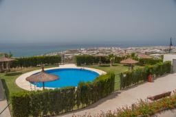 Зелёный сад. Испания, Торрокс : Роскошный двухэтажный дом для отдыха с бассейном и видом на море и горы в Торроксе, 3 спальни, 3 ванные комнаты, Wi-Fi.