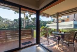 Балкон. Испания, Ллорет-де-Мар : Комфортабельные современные апартаменты,  с 3 спальнями, 2 ванными комнатами, расположенные прямо перед выходом к прекрасному пляжу Кала Са Боаделла.