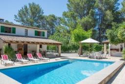 Бассейн. Испания, Cант-Висенц : Уединенная вилла в окружении лесного массива, гостиная, 3 спальни, 2 ванных комнаты, Wi-Fi, бесплатный пятиместный автомобиль