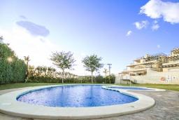 Бассейн. Испания, Мучамель : Просторная светлая квартира с 3 спальнями, 2 ванными комнатами и общи бассейном, оборудована кондиционером, стиральной машиной, посудомоечной машиной и WIFI