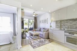 Студия (гостиная+кухня). Испания, Альбир : Прекрасная квартира, расположенная в центре Альбира всего в 100 метрах ходьбы от пляжа, 4 этаже в многоквартирном доме с лифтом, 1 спальня, 1 ванная комната, общий бассейн, кондиционер и Wi-Fi