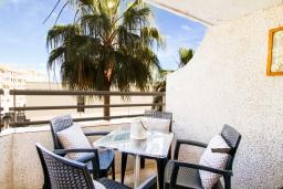 Обеденная зона. Испания, Альбир : Прекрасная квартира, расположенная в центре Альбира всего в 100 метрах ходьбы от пляжа, 4 этаже в многоквартирном доме с лифтом, 1 спальня, 1 ванная комната, общий бассейн, кондиционер и Wi-Fi