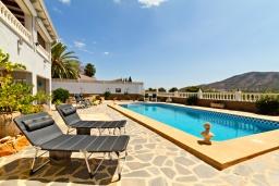 Бассейн. Испания, Альфас-дель-Пи : Просторная, свежая и прекрасная квартира в частном двухквартирном доме, расположена в Альфас-дель-Пи, с 3 спальнями, ванной комнатой и частным бассейном