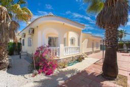 Вид на виллу/дом снаружи. Испания, Сьюдад Кесада : Прекрасная вилла для семейного отдыха с 3 спальнями, 2 ванными комнатами и террасой на крыше, оборудована кондиционерами и Wi-Fi