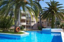 Бассейн. Испания, Нерха : Замечательные апартаменты с видом на цветущий сад, бассейном и солнечной террасой в Нерхе, в 100 метрах от песчаного пляжа PLAYA CARABEO, 3 спальни, 2 ванные комнаты, центральное отопление, бесплатный Wi-Fi.