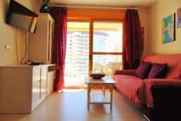Гостиная / Столовая. Испания, Кальпе : Небольшая симпатичная квартира с уютным интерьером, не оставит Вас равнодушными, с 1 спальней, 1 ванной комнатой и потрясающим видом на море.
