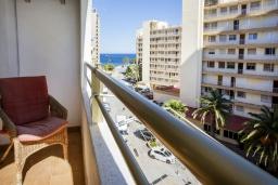 Вид на море. Испания, Кальпе : Апартаменты с видом на море и бассейy, всего в 100 метрах от моря и пляжа Калалга, с 2 спальнями и 1 ванной комнатой.